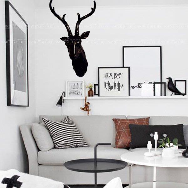北歐風造型壁燈 鹿頭塑膠光澤 石上海設計師指定款壁式SWO408 (黑/白) 簡約/時尚☆SMILE 創意商品批發