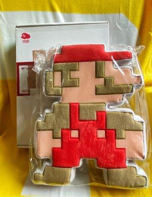 任天堂俱樂部 瑪莉歐 8Bit 玩偶抱枕 非賣品 全新品
