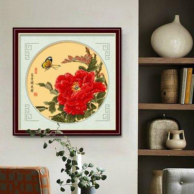 十字繡牡丹花開富貴小幅線繡新款客廳臥室簡單小件古風#十字繡#磚石畫#簡約#現代