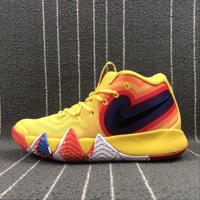 Nike Kyrie 4 EP 黃色 彩色 經典 籃球鞋 943807-700 男