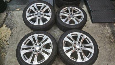 W204 W212 W205 賓士 BENZ 原廠 17吋鋁圈 含225/45/17胎皮 整組10000