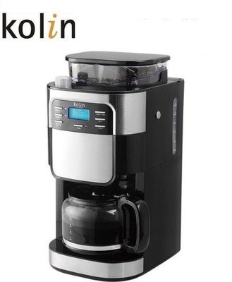 Kolin歌林 自動研磨咖啡機 KCO-LN403B 全自動/8段組/細研磨/3種濃度調節 美式咖啡機 熱賣 免運