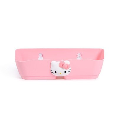 hello kitty墻面掛壁式分隔立體鞋架衛生間吸盤鞋子收納架置物架