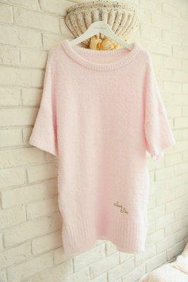❀蘇蘇購物館❀2015新品 軟綿綿羽毛紗顯瘦蝙蝠袖圓領睡裙