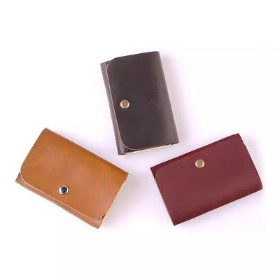【 純手工製作 小牛皮立體錢包 耳機數據線包 名片夾(包)深棕/酒紅 】新品現貨。質感佳、觸感細緻、耐磨實用、輕巧易攜。