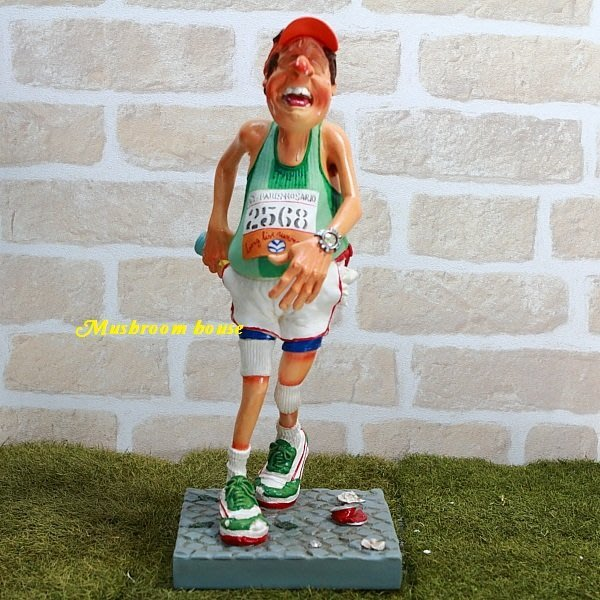 點點蘑菇屋 歐洲進口 精緻法國社會寫實派設計師FORCHINO系列擺飾-職業系列之馬拉松選手 路跑選手 長跑 跑步