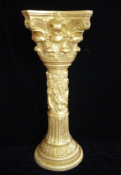 花盆羅馬柱  歐式 酒店家居裝飾品擺飾 軟裝飾品 金質浮雕工藝品