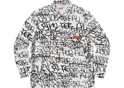 【美國鞋校】 預購 Supreme FW18 CDG 川久保玲 Printed Canvas Chore Coat