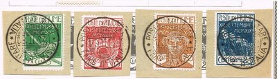 【雲品】意大利Italy Fiume 1920 Sc 100-104 set on piece 庫號#66145