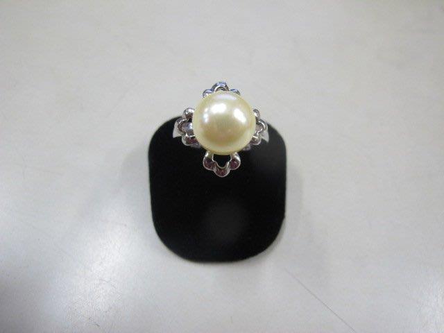二手舖 NO.3993 珍珠 造型戒指 首飾飾品 全新
