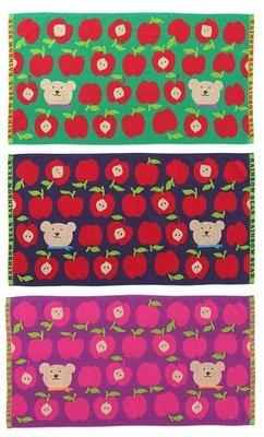 尼德斯Nydus~* 日本正版 彩虹熊 Rainbow Bear 浴巾 大毛巾 蘋果款 120cm 100%純棉-日本製