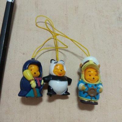 一起賣 迪士尼 魔法掃把 熊貓 船長 變身 小熊維尼 公仔 吊飾