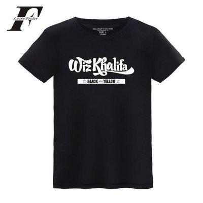 西海岸rap饒舌說唱歌手wiz khalifa維茲卡利法男女學生短袖T恤夏 wmqp