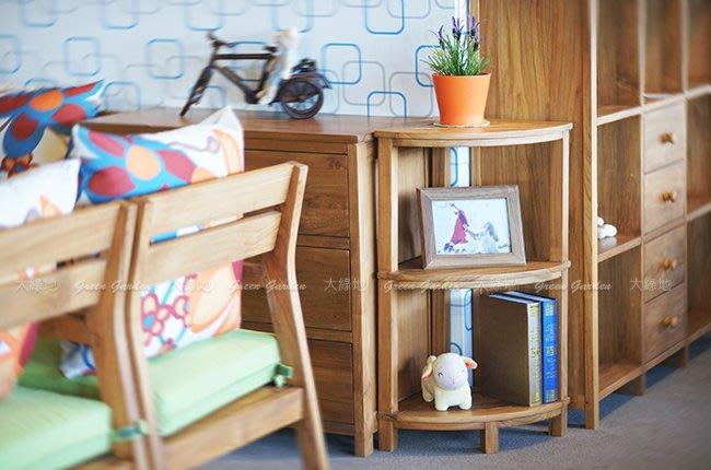 雙層 柚木角櫃 (原色) 【大綠地家具】100%印尼柚木實木/無上漆原木款/收納櫃/多格櫃/多功能/免組裝