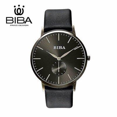 [時間達人] 法國 BIBA 碧寶錶 永恆光影系列 藍寶石玻璃 石英錶 B77BS302B 黑色 - 41mm 高雄市