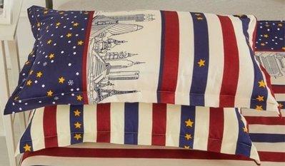 英倫風星星枕頭套