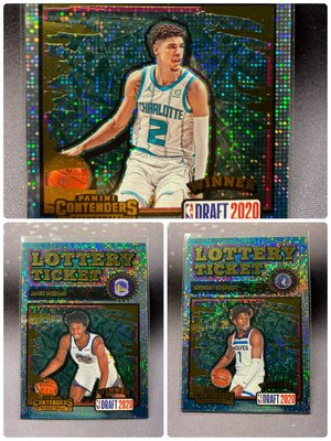 2020-21 Contenders Lamelo Ball RC Lottery Ticket Anthony Edwards James Wiseman