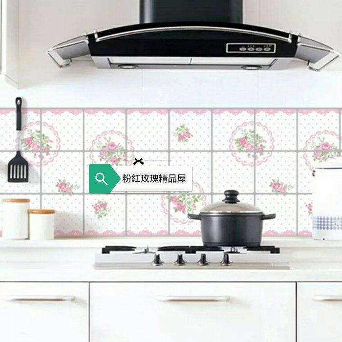 粉紅玫瑰精品屋~韓國進口防火耐高溫鋁箔瓷磚自黏防油貼紙~