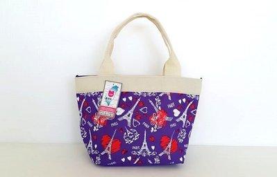 ~YOGSBEAR~  O 環保袋 手提袋 手提包 手拿包 袋 便當袋 餐袋 水餃包 D~52 紫