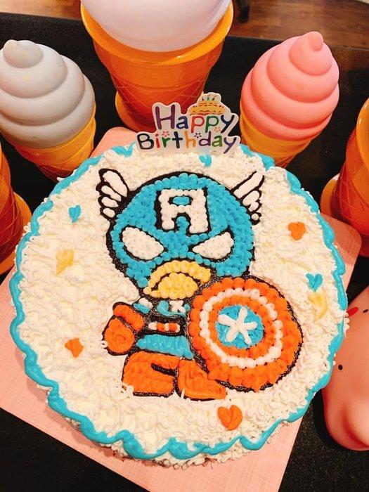 ❤歡迎自取 ❥ 雪屋麵包坊 ❥ 卡通蛋糕手繪系列  ❥ 美國隊長系列 ❥ 八吋生日蛋糕