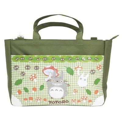 日本進口宮崎駿龍貓豆豆龍手提肩背兩用包包/手提袋/書包--秘密花園