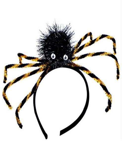 【洋洋小品俏麗蜘蛛髮箍蜘蛛髮圈】舞會頭飾兒童變裝兒童造型服萬聖節服裝聖誕節服裝表演角色扮演服裝道具化妝舞會面具