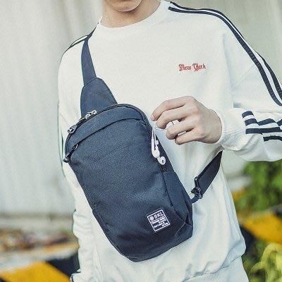 新款胸包男韓版學生單肩包小背包斜挎包帆布包包休閒斜跨腰包   全館免運