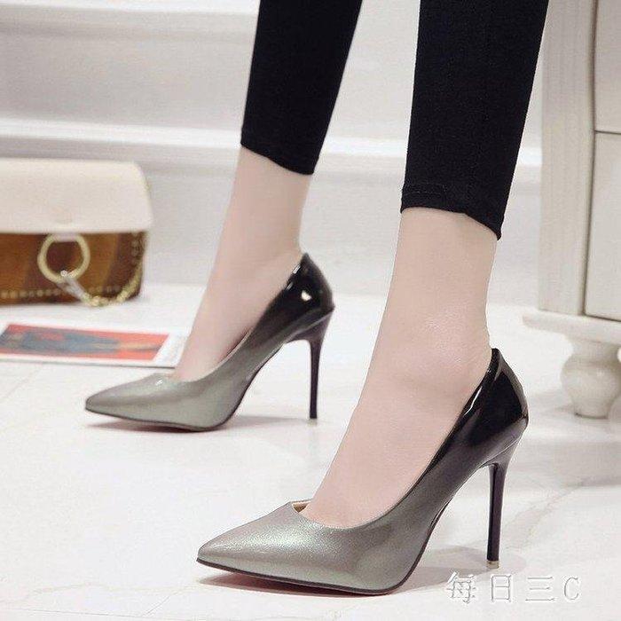 大尺碼女鞋42大碼43碼胖腳女鞋10cm細跟尖頭顯瘦高跟鞋男士cosplay偽娘鞋 ic2183