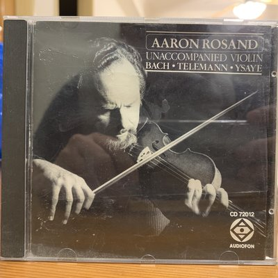 「證膠所」古典CD 1988美版 AARON ROSAND UNACCOMPANIED VIOLIN