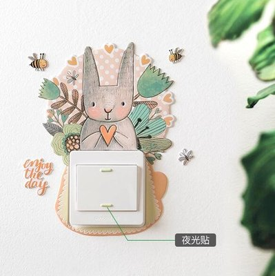 插座貼 3D現代簡約開關貼牆貼燈開關裝飾貼保護套插座裝飾牆壁