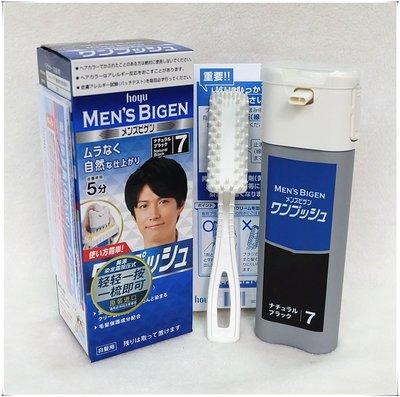 日本原裝進口美源植物染發膏劑男士按壓式遮白發快速黑發霜
