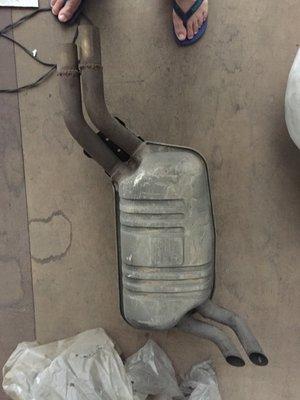 BENZ W210 原廠排氣管 E200 E240 E280 E320 桃園可看