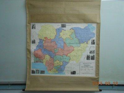 《奈幾利亞地圖~ADMINISTRATIVE MAP OF NIGERIA》 外觀長寬126*102 地圖長寬92*74