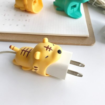 日本 Cable Bite同款 咬咬小動物咬線器 大口咬豆腐頭保護套 IPhone豆腐頭保護套【RI379】