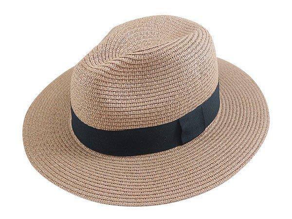 金城武同款通用型限定帽子/ 流行(黑色平摺頸帶4cm)寬邊(7cm)加大帽沿軟藤紳士帽-3色/直購價