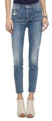 ◎美國代買◎MOTHER Stunner Ankle Fray 微刷破刷白不包邊褲口復古高腰顯廋九分牛仔褲