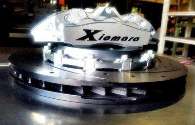 【Xiomara GT】煞車 卡鉗 活塞 TOYOTA PREVIA 330劃線打洞全浮動碟盤 街道版-中六卡鉗 陽極銀