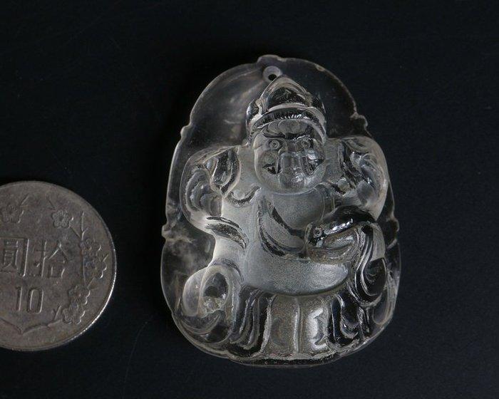✡水晶墜子✡黃財神雕墜✡35.8克✡墜頭另購✡ ✈ ◇銀肆晶珄◇ ct018