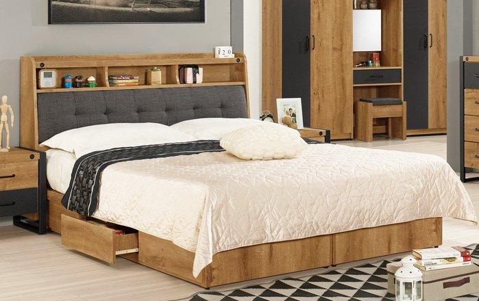 布朗克斯5尺被櫥式雙人床/床頭箱+三抽屜床底(另有6尺雙人床)😊暖暖屋傢俱傢飾😊