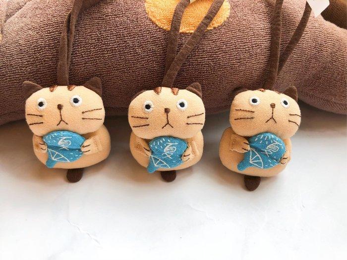 日本卡拉貓~貓咪夏之扇拼布吊飾 鑰匙圈