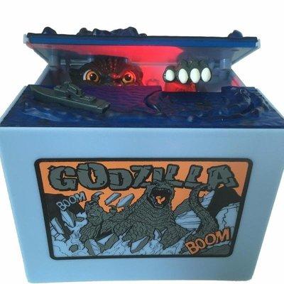全新Godzilla 哥吉拉系列 聲光偷錢效果存錢筒 發光發聲恐龍存錢罐偷錢貓儲蓄罐