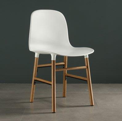 『格倫雅』訂製 白色實木餐椅ins簡約現代家用凳子單人休閑北歐風椅子靠背書房椅^25660