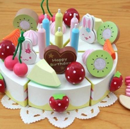 木製 兔子木製蛋糕 切切樂  蛋糕遊戲