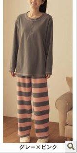 雙面刷毛 男女睡衣家居服 刷毛保暖家居服 男女兼用 日本家居服休閒睡衣(S/M/L/LL)