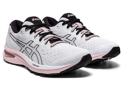 [狗爹的家] ASICS GEL-CUMULUS 22 白 黑 粉紅 透氣 女慢跑鞋 現貨 免運
