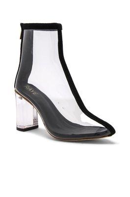 ~The Black Dan Moccani~ [經典] RAYE FELICITY 透視感 麂皮拼接 透明粗跟踝靴