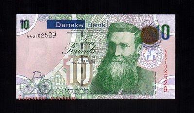 【Louis Coins】B066-NORTHERN IRELAND-2013北愛爾蘭紙鈔.10 pounds