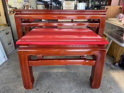 大慶二手家具 NG庫存檜木上下座神明桌(一抽)/佛桌/神明桌/供桌