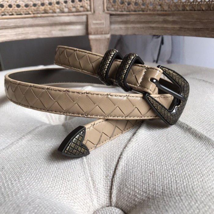 《編織之王》低調奢華純手工編織小羊皮牛皮窄版2.0cm腰帶皮帶