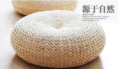 【優上】日式草編蒲團坐墊加厚圓形茶道籐編榻榻米墊瑜伽打坐禪修坐墩「全編款直徑60cm」